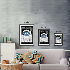 Ezposterprints - Monster Planet, We Are Not Alone | The Cute Little Monsters Posters ambiance display photo sample