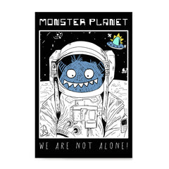 Ezposterprints - Monster Planet, We Are Not Alone | The Cute Little Monsters Posters