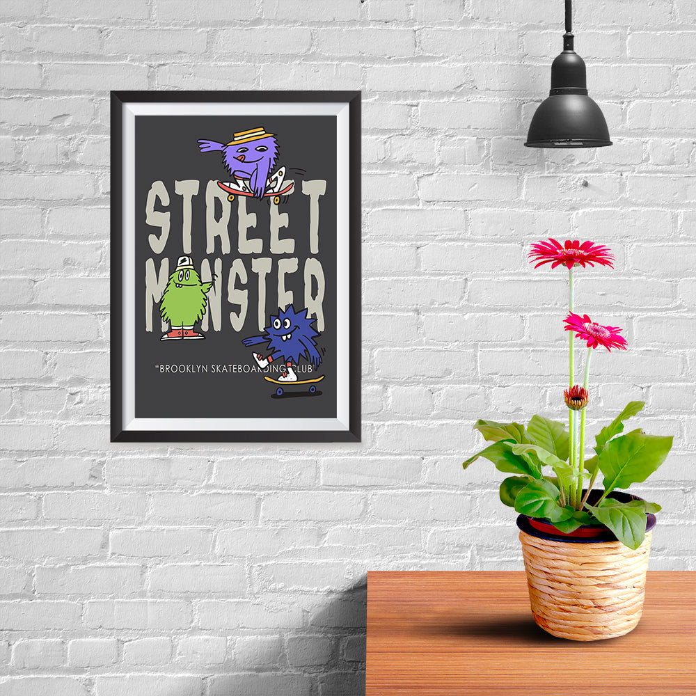 Ezposterprints - Street Monster - 08x12 ambiance display photo sample