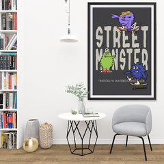 Ezposterprints - Street Monster | The Cute Little Monsters Posters - 32x48 ambiance display photo sample