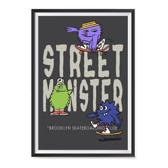 Ezposterprints - Street Monster | The Cute Little Monsters Posters ambiance display photo sample