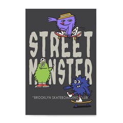 Ezposterprints - Street Monster | The Cute Little Monsters Posters