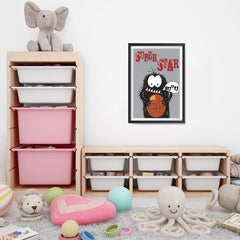 Ezposterprints - Super Star Buu Monster | The Cute Little Monsters Posters - 16x24 ambiance display photo sample