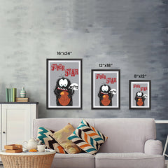 Ezposterprints - Super Star Buu Monster | The Cute Little Monsters Posters ambiance display photo sample