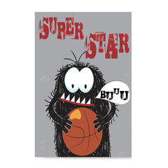 Ezposterprints - Super Star Buu Monster | The Cute Little Monsters Posters