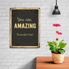Ezposterprints - Amazing Black | Retro Metal Design Signs Posters - 12x16 ambiance display photo sample