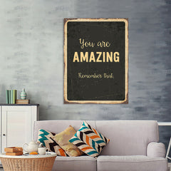 Ezposterprints - Amazing Black | Retro Metal Design Signs Posters - 36x48 ambiance display photo sample