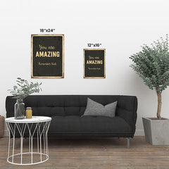 Ezposterprints - Amazing Black | Retro Metal Design Signs Posters ambiance display photo sample