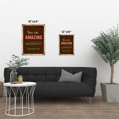 Ezposterprints - Amazing Brown | Retro Metal Design Signs Posters ambiance display photo sample
