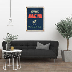 Ezposterprints - Amazing Navy | Retro Metal Design Signs Posters - 24x32 ambiance display photo sample
