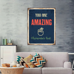 Ezposterprints - Amazing Navy | Retro Metal Design Signs Posters - 36x48 ambiance display photo sample