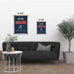Ezposterprints - Amazing Navy | Retro Metal Design Signs Posters ambiance display photo sample