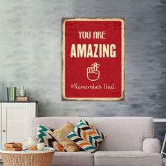 Ezposterprints - Amazing Red | Retro Metal Design Signs Posters - 36x48 ambiance display photo sample