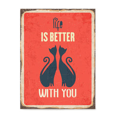 Ezposterprints - Better Life Red | Retro Metal Design Signs Posters