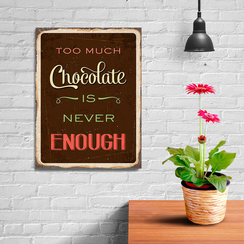Ezposterprints - Chocolate Brown | Retro Metal Design Signs Posters - 12x16 ambiance display photo sample