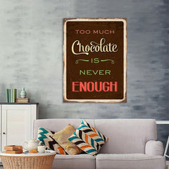 Ezposterprints - Chocolate Brown | Retro Metal Design Signs Posters - 36x48 ambiance display photo sample