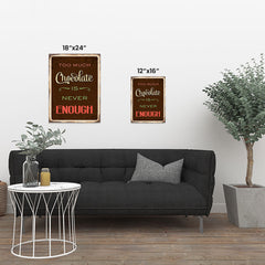 Ezposterprints - Chocolate Brown | Retro Metal Design Signs Posters ambiance display photo sample
