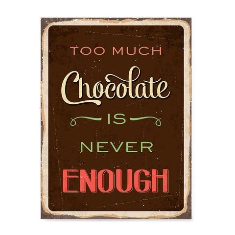 Ezposterprints - Chocolate Brown | Retro Metal Design Signs Posters