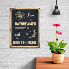 Ezposterprints - Daydreamer Black | Retro Metal Design Signs Posters - 12x16 ambiance display photo sample