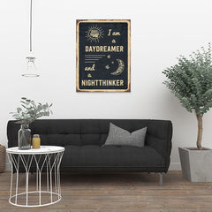Ezposterprints - Daydreamer Black | Retro Metal Design Signs Posters - 24x32 ambiance display photo sample