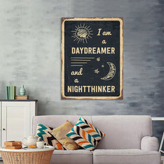 Ezposterprints - Daydreamer Black | Retro Metal Design Signs Posters - 36x48 ambiance display photo sample