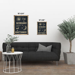 Ezposterprints - Daydreamer Black | Retro Metal Design Signs Posters ambiance display photo sample