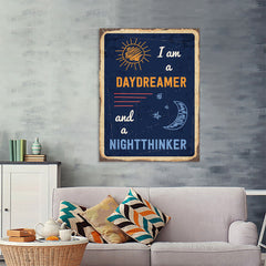 Ezposterprints - Daydreamer Navy | Retro Metal Design Signs Posters - 36x48 ambiance display photo sample