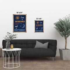 Ezposterprints - Daydreamer Navy | Retro Metal Design Signs Posters ambiance display photo sample