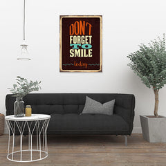 Ezposterprints - Dont Forget Smile | Retro Metal Design Signs Posters - 24x32 ambiance display photo sample