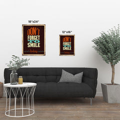 Ezposterprints - Dont Forget Smile | Retro Metal Design Signs Posters ambiance display photo sample