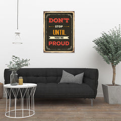 Ezposterprints - Dont Stop | Retro Metal Design Signs Posters - 24x32 ambiance display photo sample