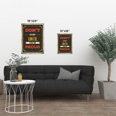 Ezposterprints - Dont Stop | Retro Metal Design Signs Posters ambiance display photo sample