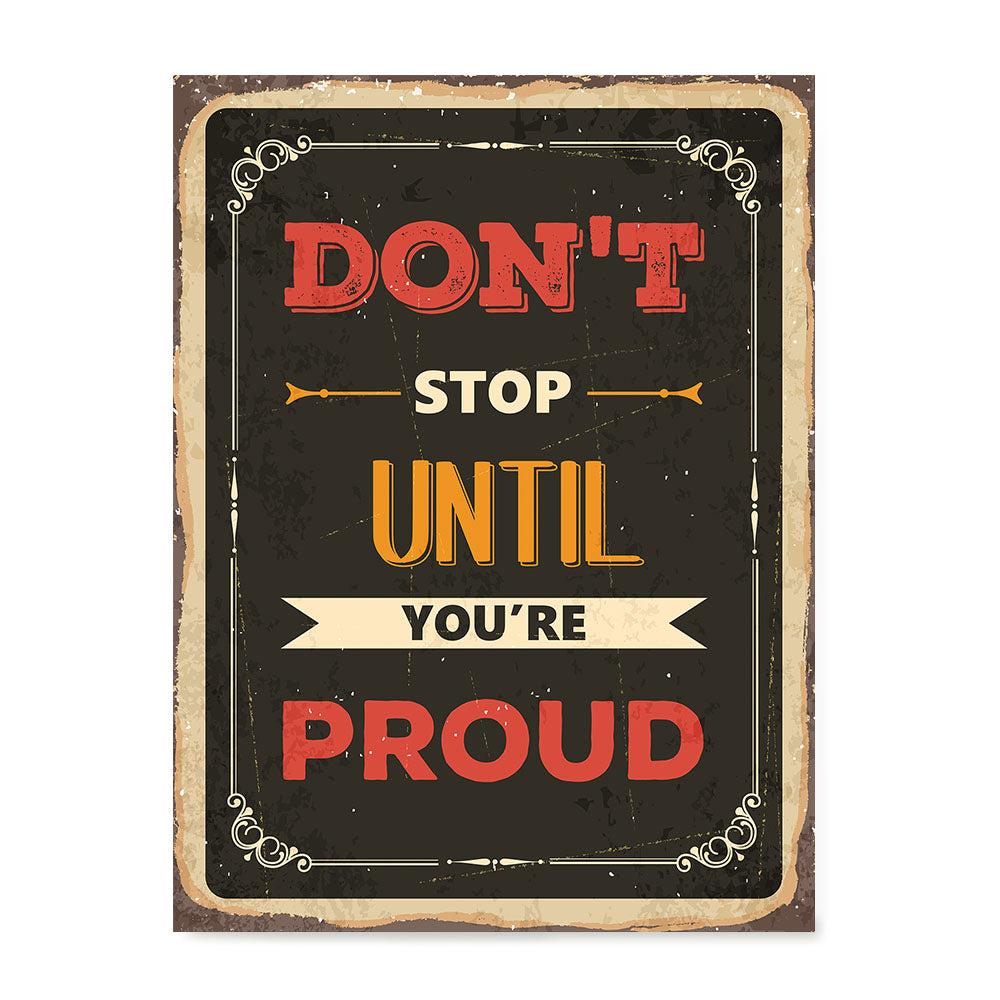 Ezposterprints - Dont Stop | Retro Metal Design Signs Posters