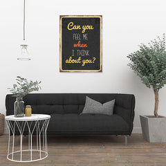 Ezposterprints - Feel Me Black | Retro Metal Design Signs Posters - 24x32 ambiance display photo sample