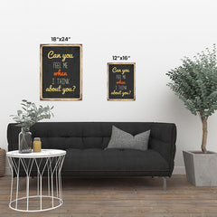 Ezposterprints - Feel Me Black | Retro Metal Design Signs Posters ambiance display photo sample