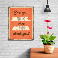 Ezposterprints - Feel Me Orange | Retro Metal Design Signs Posters - 12x16 ambiance display photo sample