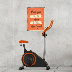 Ezposterprints - Feel Me Orange | Retro Metal Design Signs Posters - 18x24 ambiance display photo sample