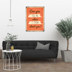 Ezposterprints - Feel Me Orange | Retro Metal Design Signs Posters - 24x32 ambiance display photo sample