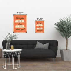 Ezposterprints - Feel Me Orange | Retro Metal Design Signs Posters ambiance display photo sample