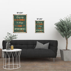 Ezposterprints - Opportunities Green | Retro Metal Design Signs Posters ambiance display photo sample
