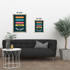 Ezposterprints - Smile Always | Retro Metal Design Signs Posters ambiance display photo sample