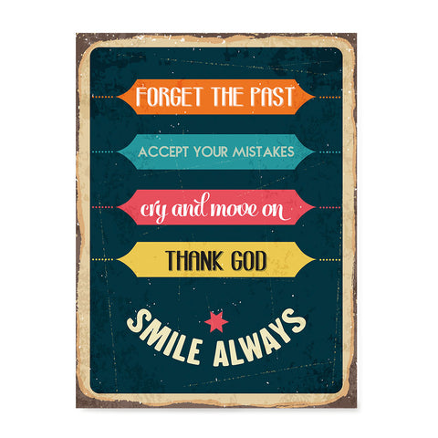 Ezposterprints - Smile Always | Retro Metal Design Signs Posters