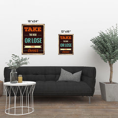Ezposterprints - Take Risk | Retro Metal Design Signs Posters ambiance display photo sample