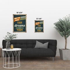 Ezposterprints - Your Dreams | Retro Metal Design Signs Posters ambiance display photo sample