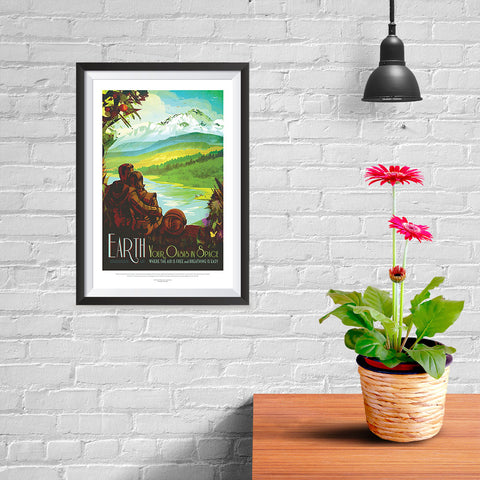Ezposterprints - Earth - Your Oasis In Space Where The Air Is Free and Breathing Is Easy - 08x12 ambiance display photo sample