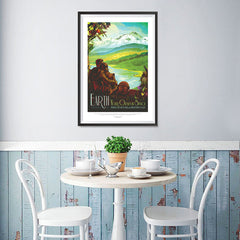 Ezposterprints - Earth - Your Oasis In Space Where The Air Is Free and Breathing Is Easy - 12x18 ambiance display photo sample
