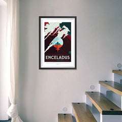 Ezposterprints - Enceladus - More Than 100 Breathtaking Geysers! - 16x24 ambiance display photo sample