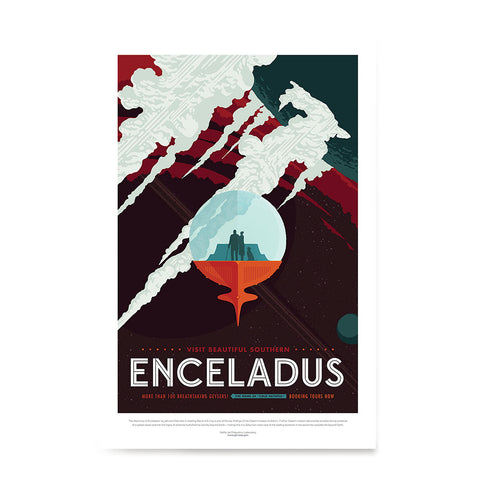 Ezposterprints - Enceladus - More Than 100 Breathtaking Geysers!