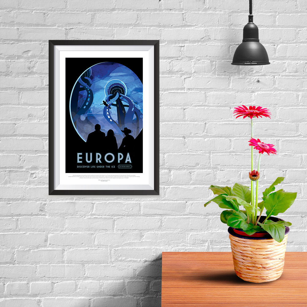 Discover Life Under The Ice NASA JPL Space Travel Poster Europa 24x36/""