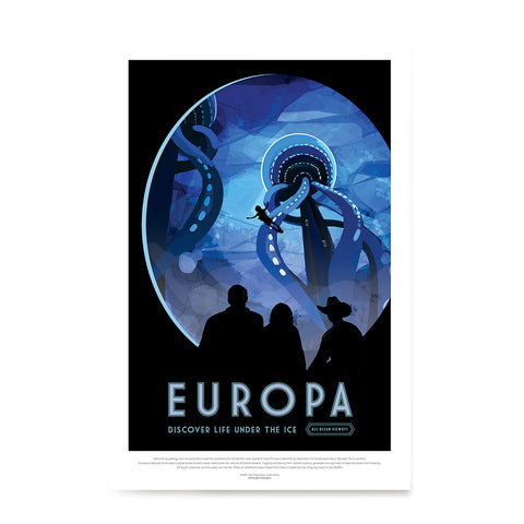 Ezposterprints - Europa - Discover Life Under The Ice